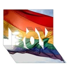 Pride Flag Boy 3d Greeting Card (7x5)