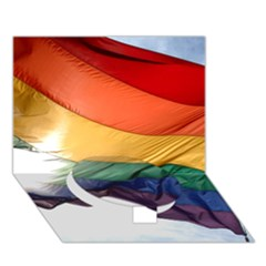 Pride Flag Circle Bottom 3d Greeting Card (7x5)