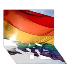 Pride Flag Love Bottom 3d Greeting Card (7x5)