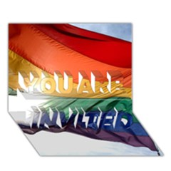 Pride Flag You Are Invited 3d Greeting Card (7x5)