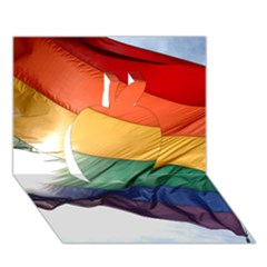 Pride Flag Apple 3d Greeting Card (7x5)