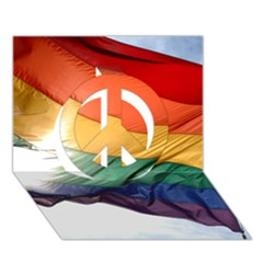 PRIDE FLAG Peace Sign 3D Greeting Card (7x5)