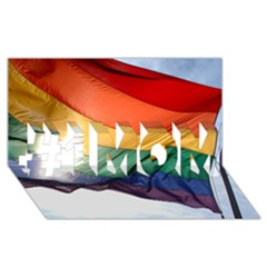 Pride Flag #1 Mom 3d Greeting Cards (8x4)