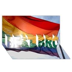 PRIDE FLAG BEST BRO 3D Greeting Card (8x4)