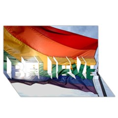 PRIDE FLAG BELIEVE 3D Greeting Card (8x4)