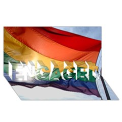 Pride Flag Engaged 3d Greeting Card (8x4)