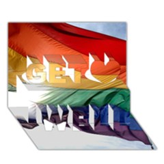 Pride Flag Get Well 3d Greeting Card (7x5)