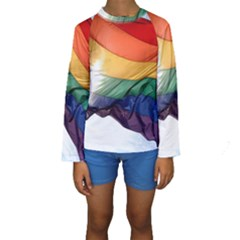 PRIDE FLAG Kid s Long Sleeve Swimwear