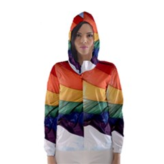 PRIDE FLAG Hooded Wind Breaker (Women)