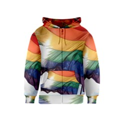 PRIDE FLAG Kids Zipper Hoodies