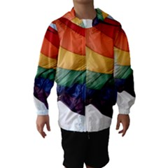 PRIDE FLAG Hooded Wind Breaker (Kids)