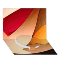 Pretty Abstract Art Circle Bottom 3d Greeting Card (7x5)