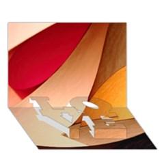 Pretty Abstract Art Love Bottom 3d Greeting Card (7x5)