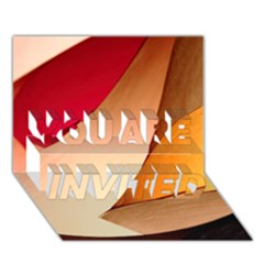 PRETTY ABSTRACT ART YOU ARE INVITED 3D Greeting Card (7x5)
