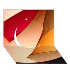 PRETTY ABSTRACT ART Circle 3D Greeting Card (7x5)