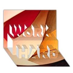 Pretty Abstract Art Work Hard 3d Greeting Card (7x5)