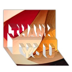 PRETTY ABSTRACT ART THANK YOU 3D Greeting Card (7x5)