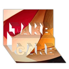Pretty Abstract Art Take Care 3d Greeting Card (7x5)