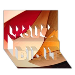 Pretty Abstract Art You Did It 3d Greeting Card (7x5)