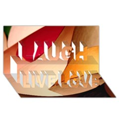 Pretty Abstract Art Laugh Live Love 3d Greeting Card (8x4)