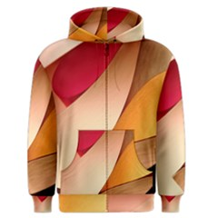 PRETTY ABSTRACT ART Men s Zipper Hoodies