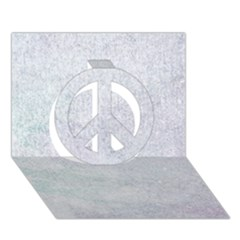 Paper Colors Peace Sign 3d Greeting Card (7x5)