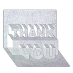 PAPER COLORS THANK YOU 3D Greeting Card (7x5)