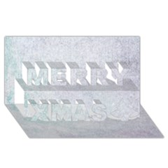 Paper Colors Merry Xmas 3d Greeting Card (8x4)