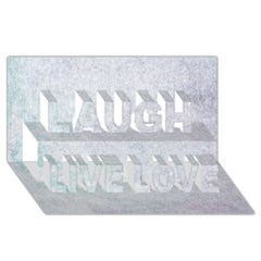 Paper Colors Laugh Live Love 3d Greeting Card (8x4)