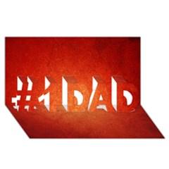 Orange Dot Art #1 Dad 3d Greeting Card (8x4)