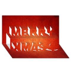 Orange Dot Art Merry Xmas 3d Greeting Card (8x4)