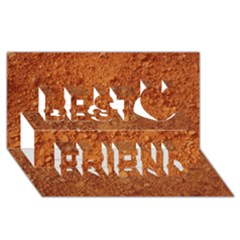 Orange Clay Dirt Best Friends 3d Greeting Card (8x4)