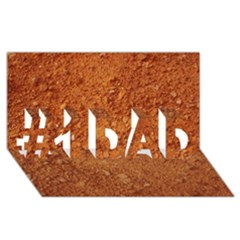 Orange Clay Dirt #1 Dad 3d Greeting Card (8x4)