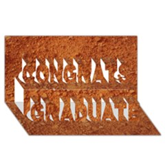 Orange Clay Dirt Congrats Graduate 3d Greeting Card (8x4)