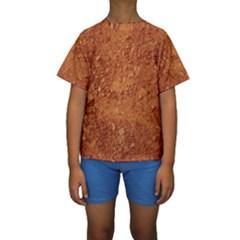 ORANGE CLAY DIRT Kid s Short Sleeve Swimwear