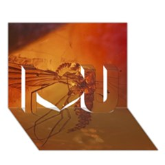 MOSQUITO IN AMBER I Love You 3D Greeting Card (7x5)