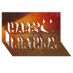 MOSQUITO IN AMBER Happy Birthday 3D Greeting Card (8x4)