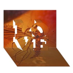 Mosquito In Amber Love 3d Greeting Card (7x5)