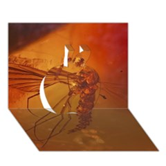 Mosquito In Amber Apple 3d Greeting Card (7x5)