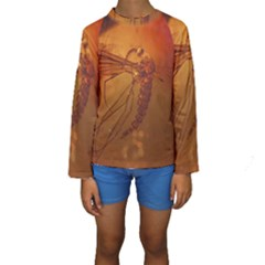 MOSQUITO IN AMBER Kid s Long Sleeve Swimwear