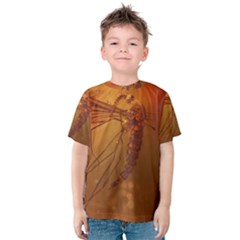 Mosquito In Amber Kid s Cotton Tee