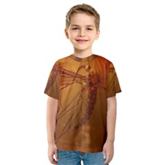 Mosquito In Amber Kid s Sport Mesh Tees