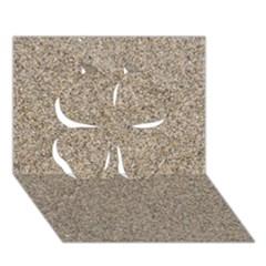 Light Beige Sand Texture Clover 3d Greeting Card (7x5)