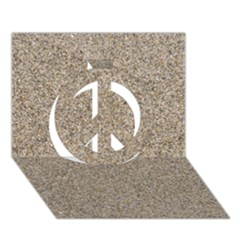 Light Beige Sand Texture Peace Sign 3d Greeting Card (7x5)