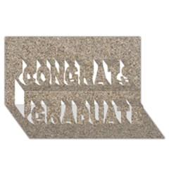 Light Beige Sand Texture Congrats Graduate 3d Greeting Card (8x4)