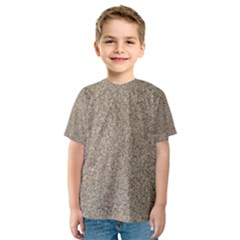 LIGHT BEIGE SAND TEXTURE Kid s Sport Mesh Tees