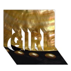 GOLDEN PEARLS GIRL 3D Greeting Card (7x5)