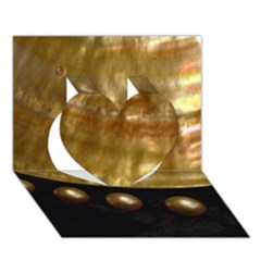 GOLDEN PEARLS Heart 3D Greeting Card (7x5)