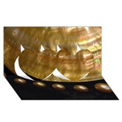 GOLDEN PEARLS Twin Hearts 3D Greeting Card (8x4)