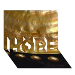 Golden Pearls Hope 3d Greeting Card (7x5)